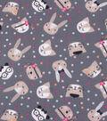 Blizzard Fleece Fabric-Happy Animals