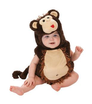 Maker's Halloween 0-6 months Infant Monkey Romper Costume-Brown & Tan