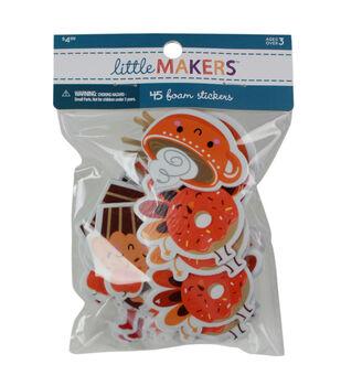 Little Makers Thanksgiving 45 pk Foam Stickers-Food