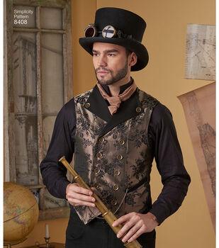 Simplicity Pattern 8408 Men's Shirt & Vests-Size AA (38-40-42-44)