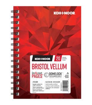 """KOH-I-NOOR 5.5""""x8.5"""" Bristol Vellum Pad-20 Sheets"""