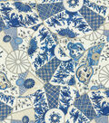 Williamsburg Upholstery Fabric 54\u0022-Imari/Bluebell