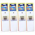 Bright Blank Bookmarks, Ultra White, 100 Per Pack, 4 Packs