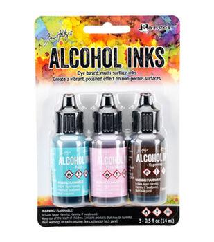 Tim Holtz Pack of 3 0.5oz. Alcohol Inks-Retro Cafe