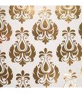 Teresa Collins Studio Gold Foiled Gift Wrap 30\u0022X30\u0022 2/Pkg-Damask