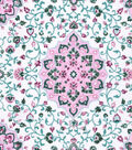Snuggle Flannel Fabric -Pink Medallion