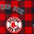 Boston Red Sox Fleece Fabric-Buffalo Plaid