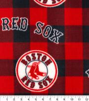 Boston Red Sox Fleece Fabric-Buffalo Plaid, , hi-res