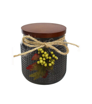 Simply Autumn 4''x4.25'' Cashmere Sweater Scented Glass Jar Candle-Black