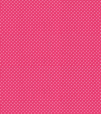 Babyville Boutique Sassy Girl Fabric 64''-White Dots on Pink