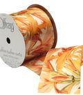 Offray 2.25\u0022 x 9\u0027 Floral Ribbon-Orange