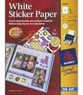 Ink Jet 8-1/2\u0022X11\u0022 Printable Sticker Project Paper W/CD-Matte White