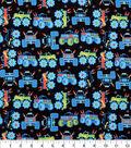 Novelty Cotton Fabric-Monster Trucks Black