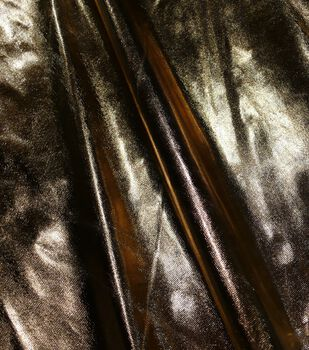 Metallics Lamé Fabric -Gold and White