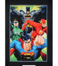 DC Comics Justice League No Sew Fleece Throw Fabric