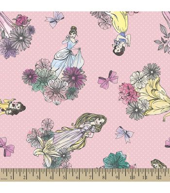 Disney Princess Print Fabric-Princesses
