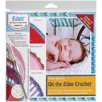 Ammees Babies Edgit Piercing Crochet Hook& Book Set