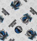 Dallas Mavericks Cotton Fabric -Logo Toss