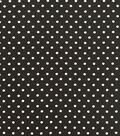 Knit Prints Rayon Spandex Fabric-Black White Dots