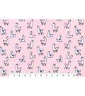 Snuggle Flannel Fabric 42\u0022-Llamas On Light Pink