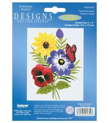 Janlynn Floral Embroidery Kit