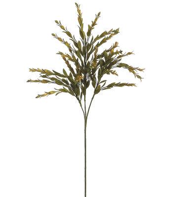 "Bloom Room 26"" Dried Tea Leaf Spray-Green"