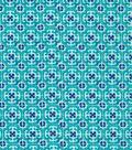 Keepsake Calico Cotton Fabric -Peacock Small Geo