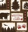 Anti-Pill Fleece Fabric 58\u0027\u0027-Welcome to the Cabin Patch