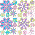 Wall Pops Patchwork Jeweled Daisy Flowers Wall Decal Kit, 48 Piece Set
