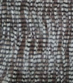 Faux Fur Fabric-Brown Feather