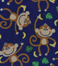 Snuggle Flannel Fabric -Curious Monkey