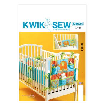 Kwik Sew Pattern K4034 Crib Organizers & Bumpers