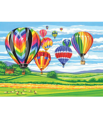 """12""""x15-1/2"""" Paint By Number Kit-Hot Air Balloons"""