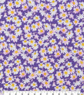 Keepsake Calico Cotton Fabric-Purple Tiny Daisies