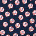 New York Yankees Cotton Fabric -Mini Print