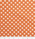DS Quilt Collection Cotton Fabric 44\u0022-Aunt Edna Circle Dot Orange