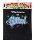 Attitude Artist Apron Black-Add Glitter