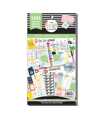 The Happy Planner 1281 pk Stickers-Travel