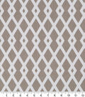 Robert Allen @ Home Lightweight Decor Fabric 55\u0022-Graphic Fret Flax