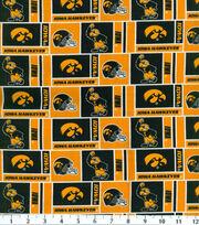 "University of Iowa Hawkeyes Cotton Fabric 43""-Herringbone, , hi-res"