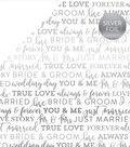 Carta Bella True Love Silver Foiled Cardstock 12\u0022X12\u0022-White
