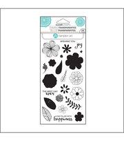 Hampton Art Layering Clear Stamp-Flower Joy, , hi-res