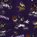 Minnesota Vikings Fleece Fabric-Mickey