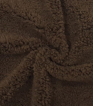 Fashion Faux Fur Fabric -Brown Sherpa