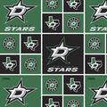 Dallas Stars Cotton Fabric -Block