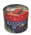 Christmas Large Round Storage Box-Classic Santa