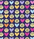 Snuggle Flannel Fabric -Love Emoticons