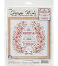 Design Works Crafts 10\u0027\u0027x10\u0027\u0027 Counted Cross Stitch Kit-Be Grateful