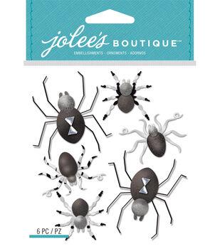 Black And White Metallic Spiders