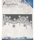 Find It Trading Amy Design Vintage Winter Die-Snowflake Swirl Edge